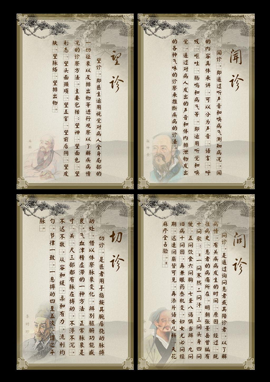 中医文化望闻问切背景展板模板下载 中医文化望闻问切背景展板图片