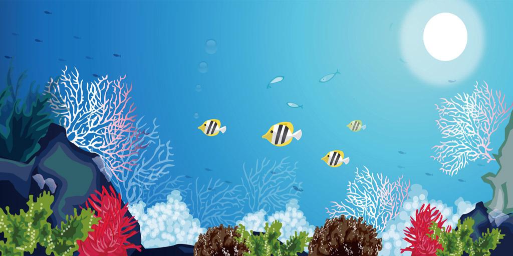 海底世界 海洋生物 鱼群