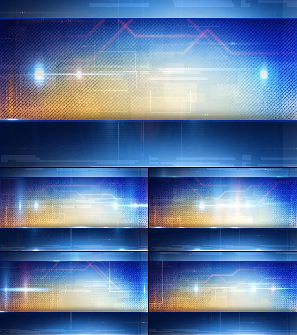 蓝色光影商务科技背景视频素材模板下载(图片编号:)