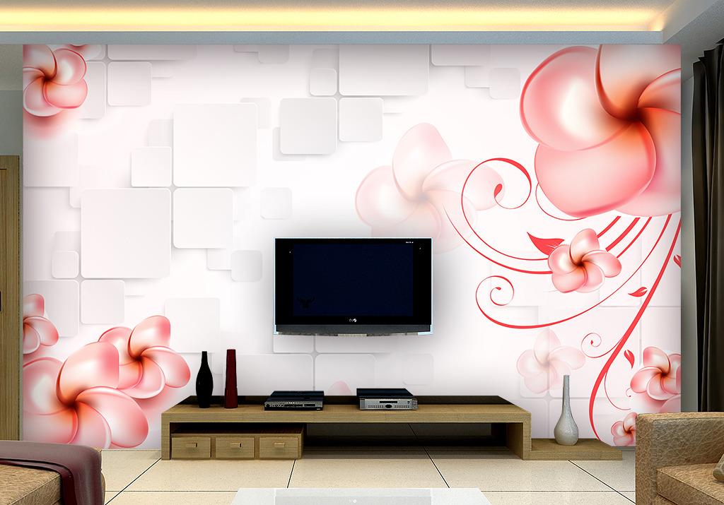 时尚浪漫3d立体客厅电视背景墙