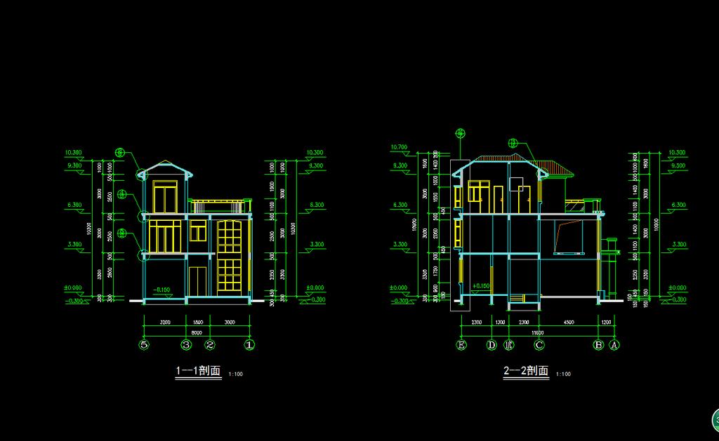 别墅设计图纸模板下载(图片编号:11976642)