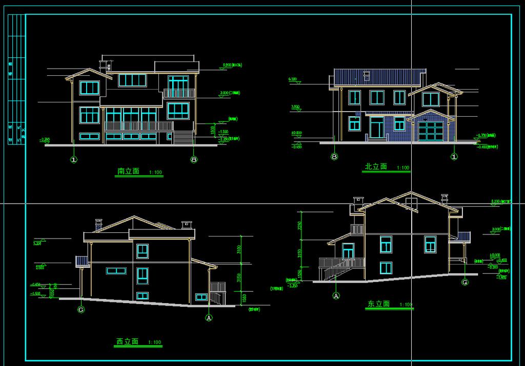别墅设计图纸模板下载(图片编号:11976834)