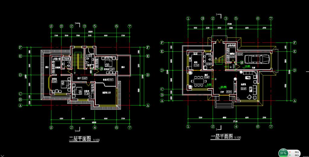 别墅设计图纸施工图模板下载 (1024x520)-别墅设计施工图 co土木在