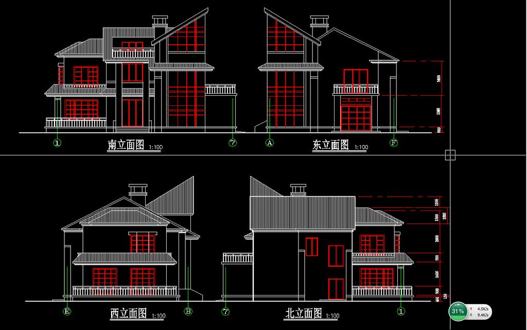 别墅设计图纸施工图