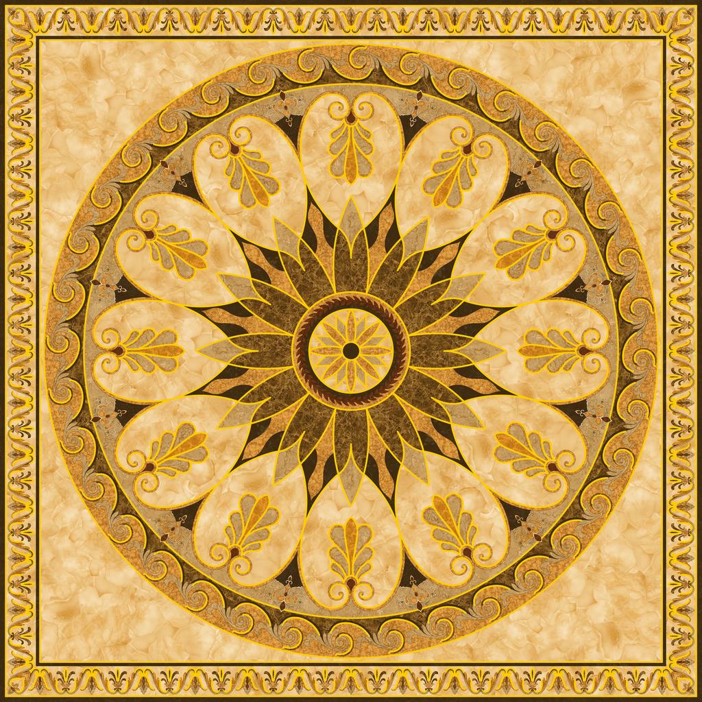 地毯花地毯拼图抛晶砖瓷砖画