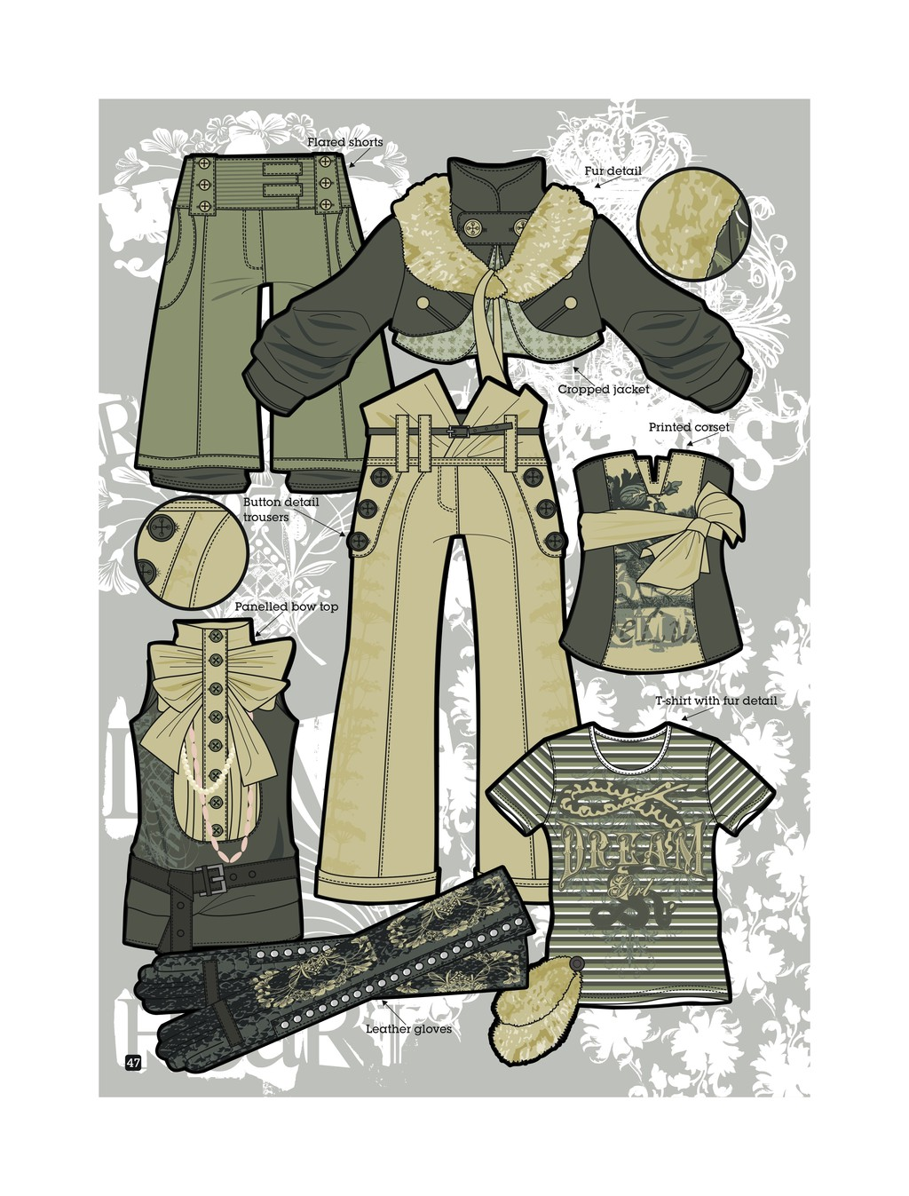服装手绘效果图