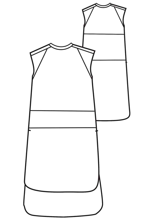 2015ss流行连衣裙拼接款式图