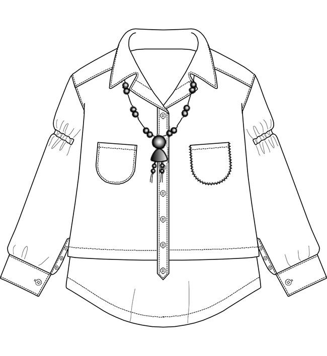 服装设计 服装手稿 上衣设计 > 女士春秋衫线稿设计  下一张&gt