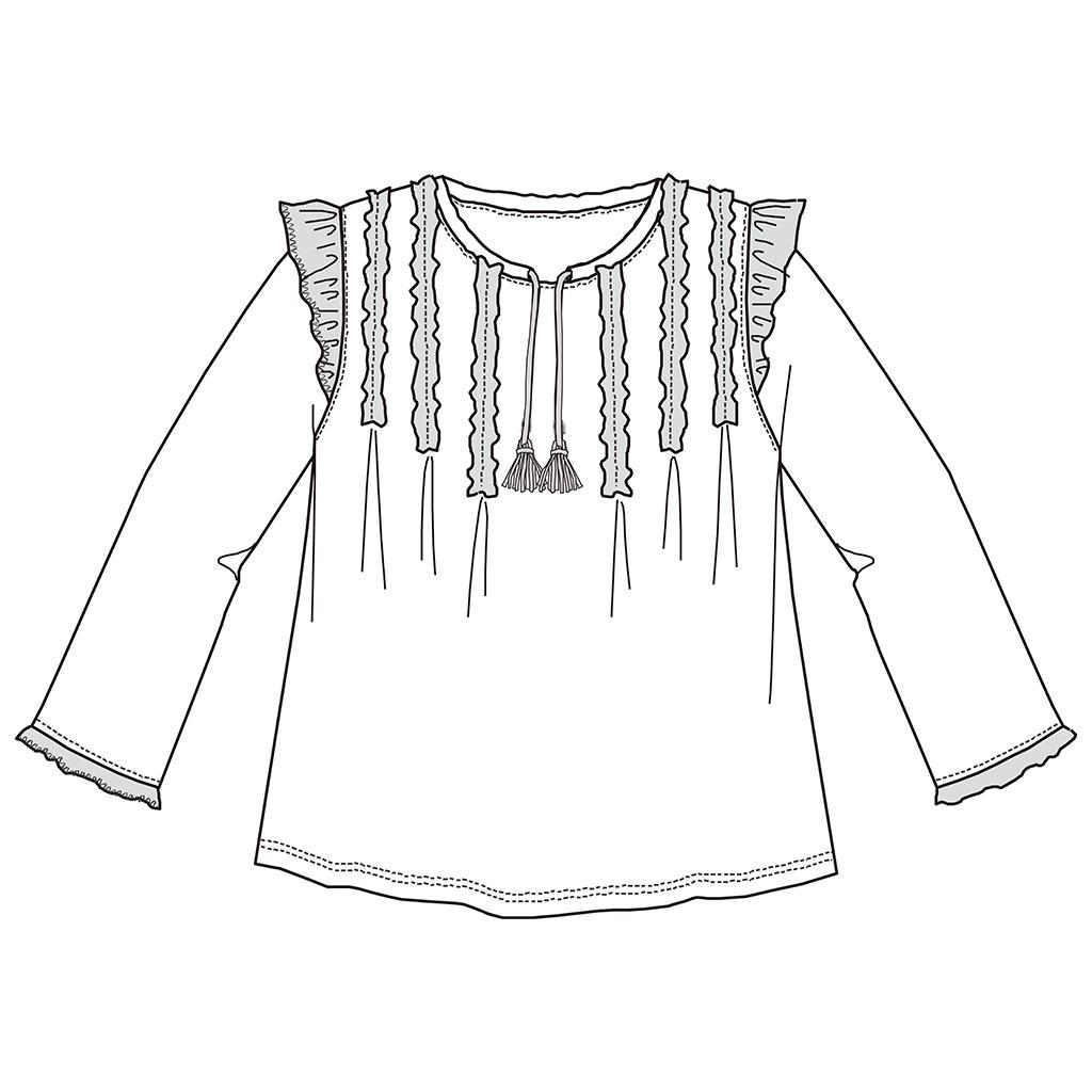 服装设计 服装手稿 上衣设计 > 女士潮流体恤线稿设计  下一张&