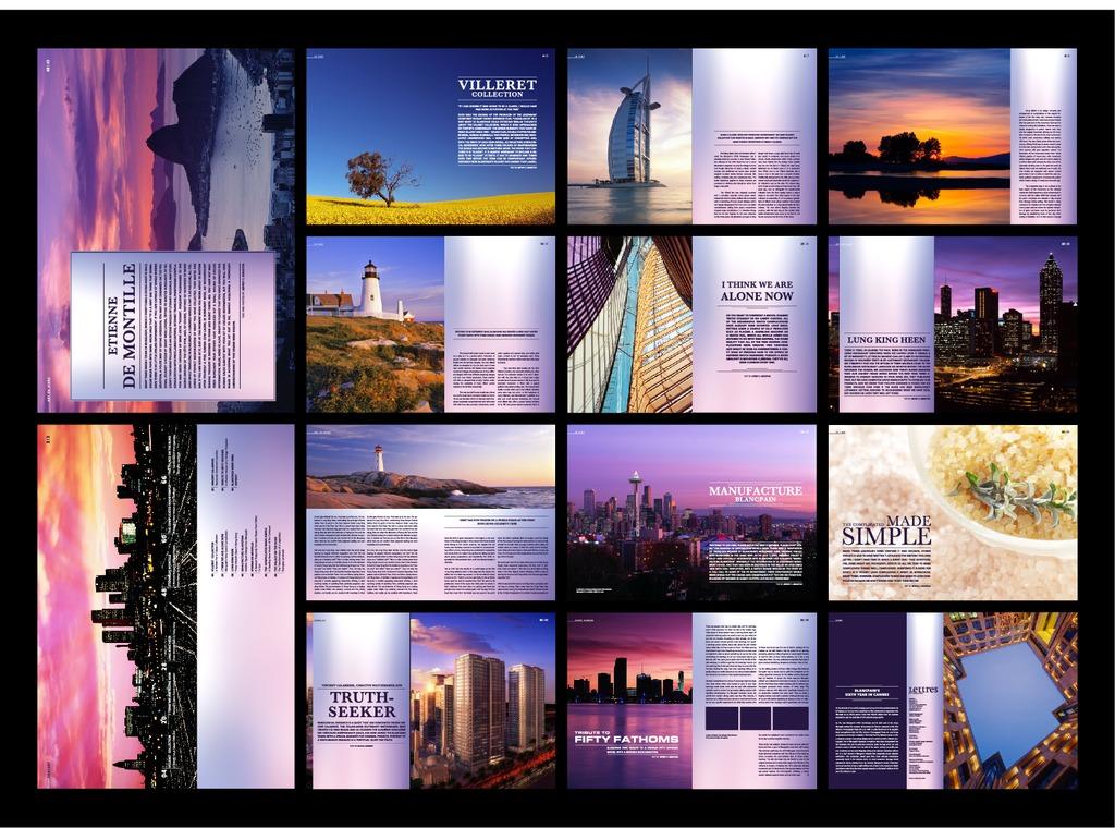 酒店旅游企业宣传画册设计模版模板下载(图片编号:)