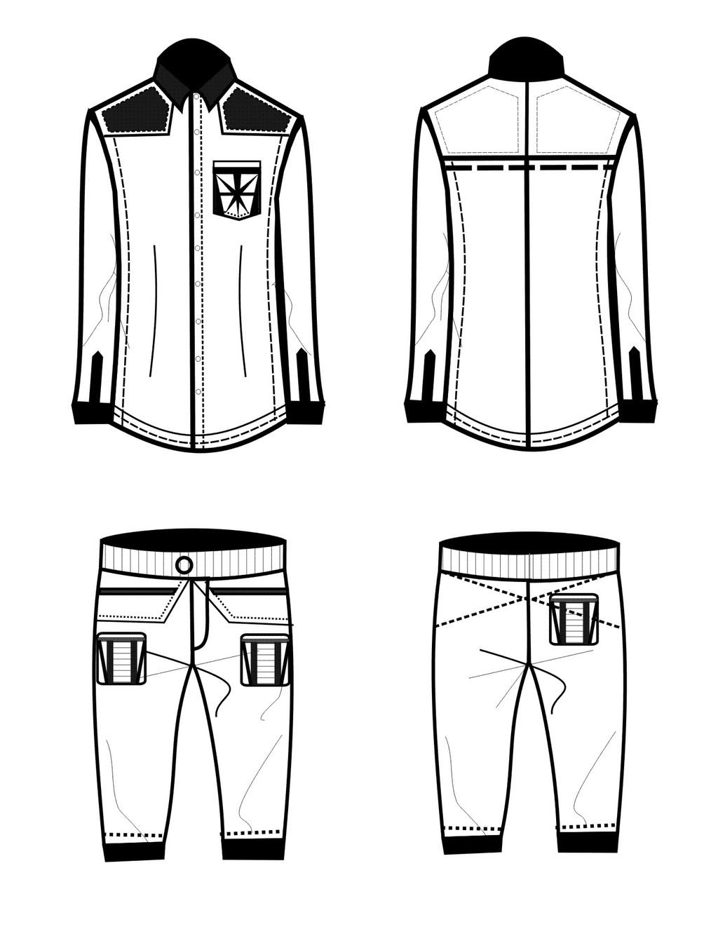服装手绘图 服装手绘款式图 服装设计 矢量服装手绘效果图 服装款式