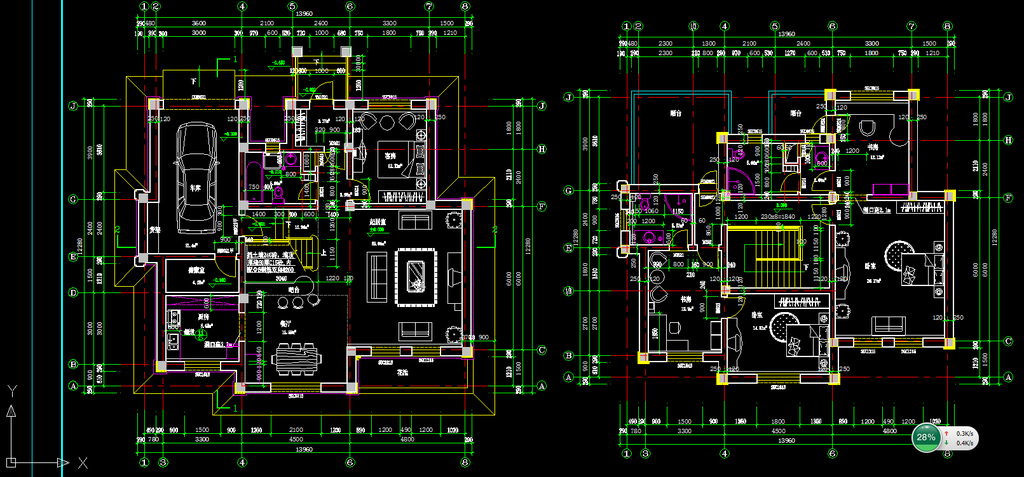 别墅设计图cad施工图模板下载(图片编号:11995219)