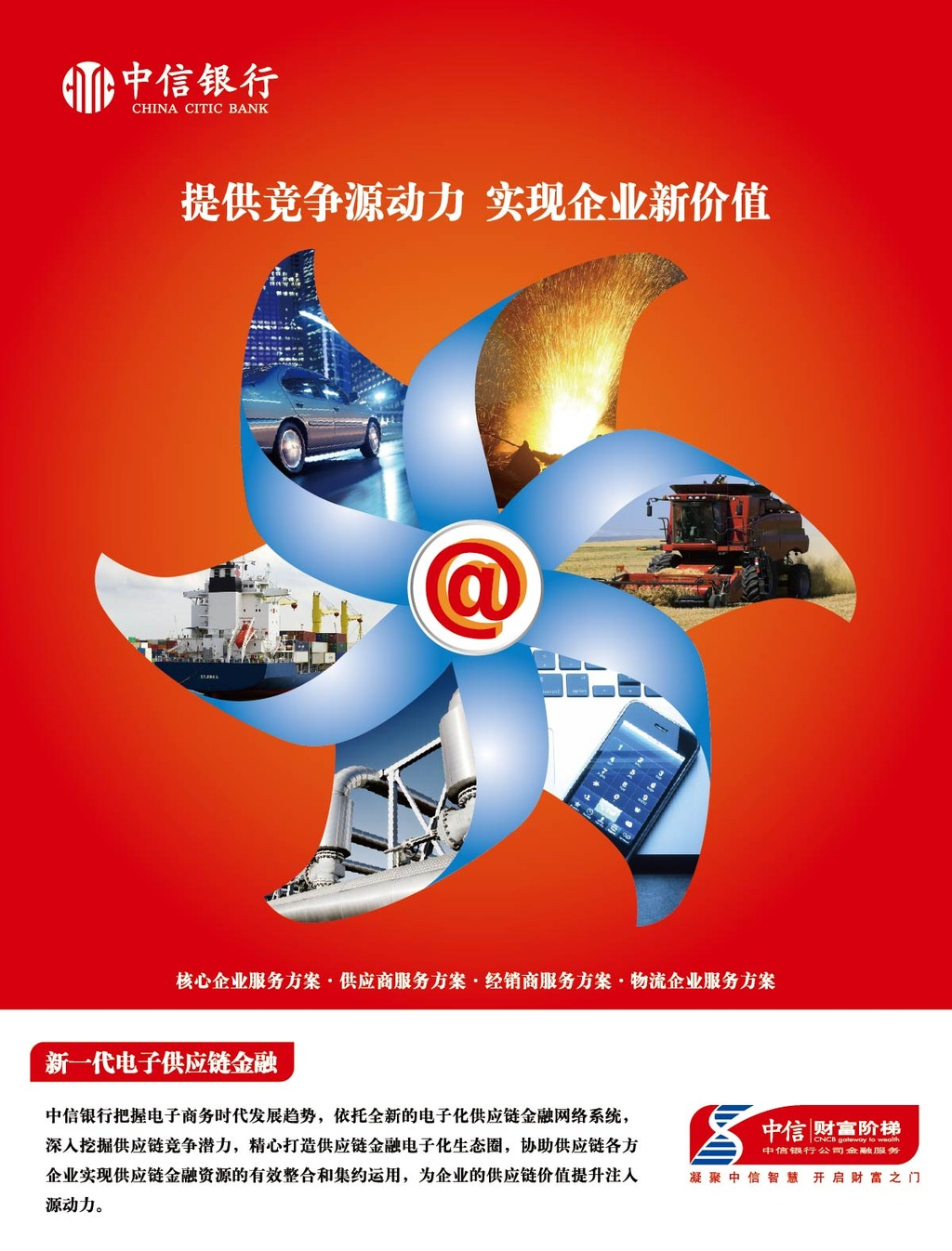 中信银行竞争源动力实现企业新价值海报设计
