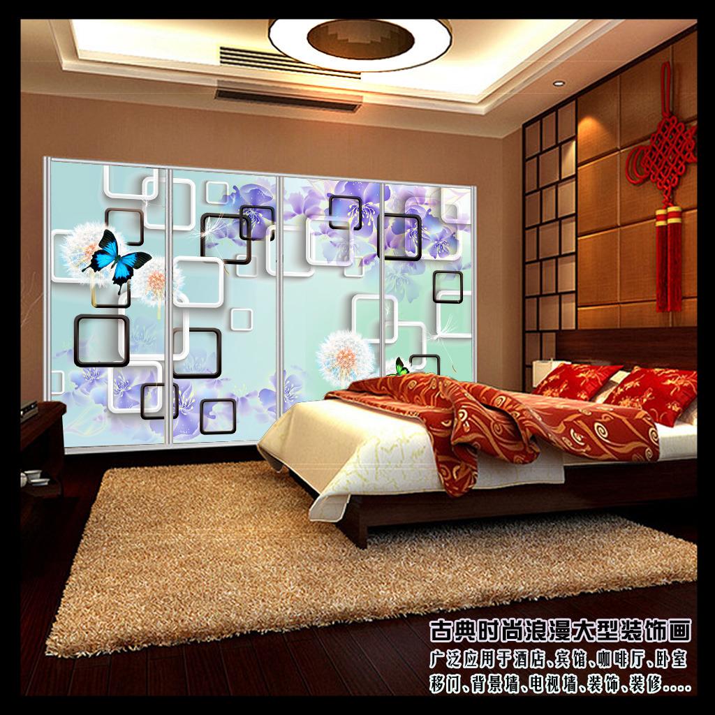 背景墙 电视 客厅/[版权图片]3D百合花客厅电视背景墙