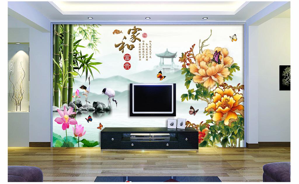 电视背景墙模板下载(图片编号:12000414)_中式电视墙