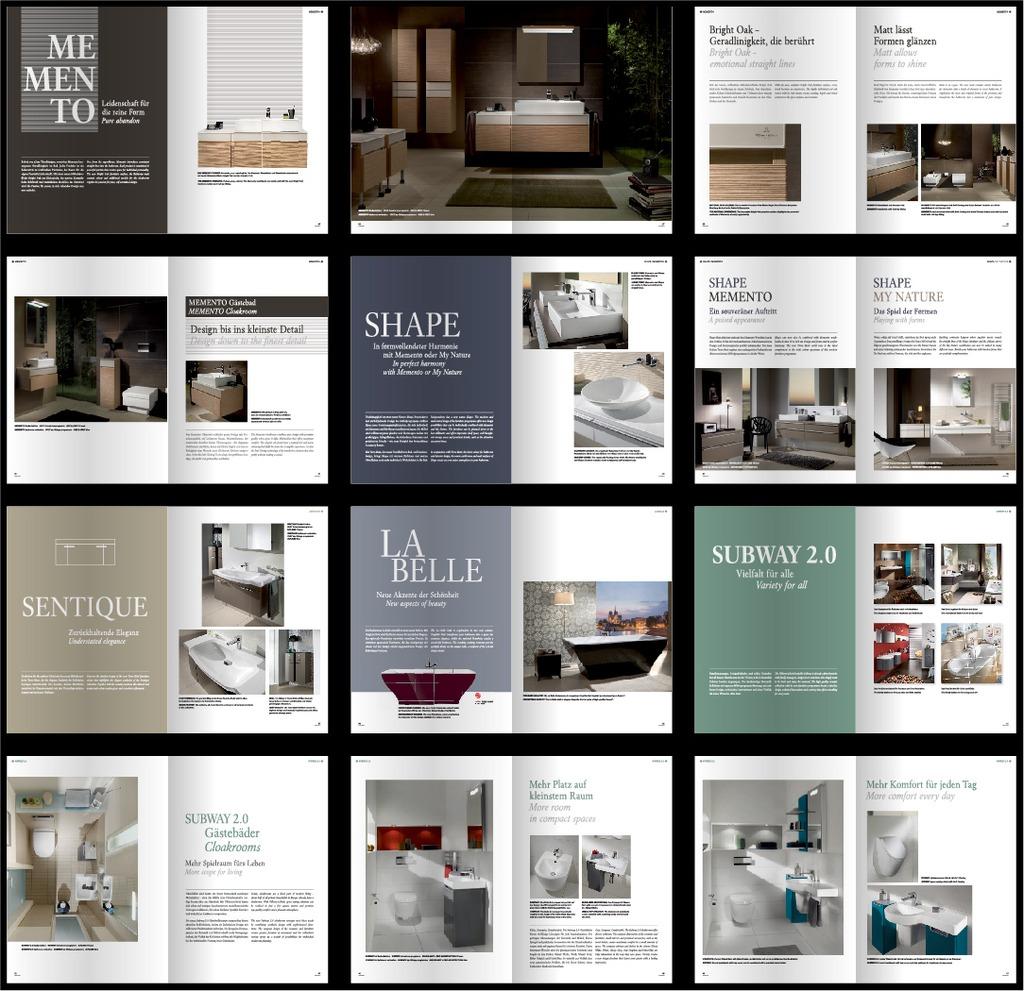 卫浴洁具企业产品宣传画册设计模版图片下载 国外画册 企业画册 版式图片