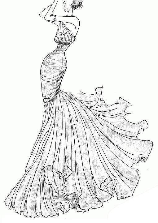 婚纱设计手感模板下载(图片编号:12001338)