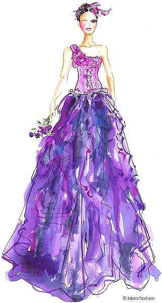 服装设计 服装手稿 其他手稿 > 婚纱设计手感