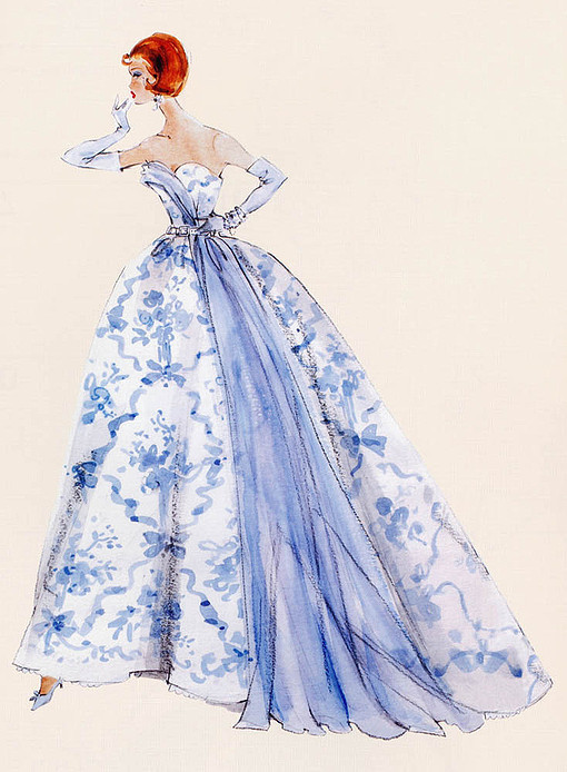 线描设计手稿 创意设计手稿 设计搞 蓝色 手绘 素描搞 婚纱 婚纱手稿