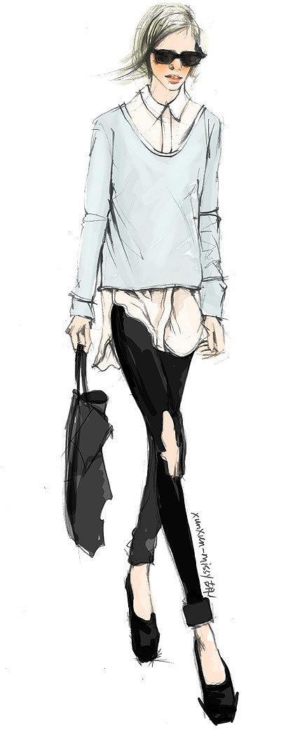 女装手绘原稿