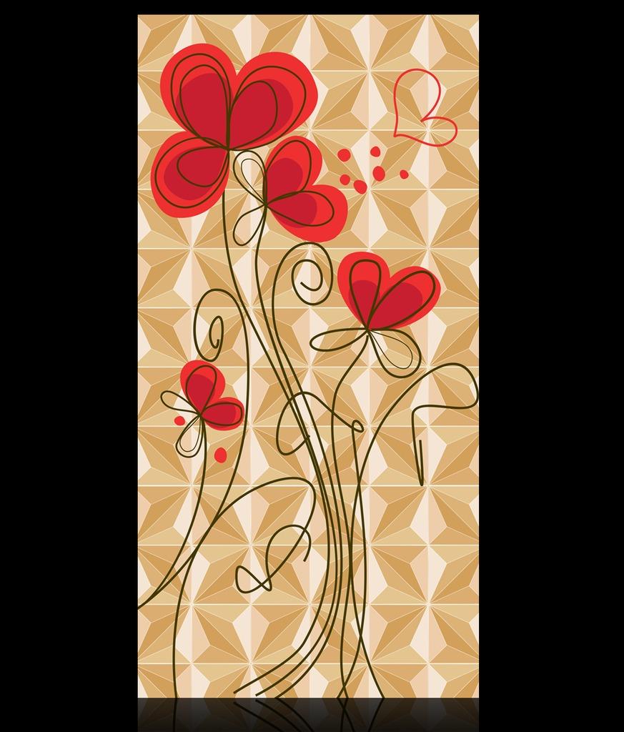 最新3d立体手绘花朵玄关过道背景墙装饰画