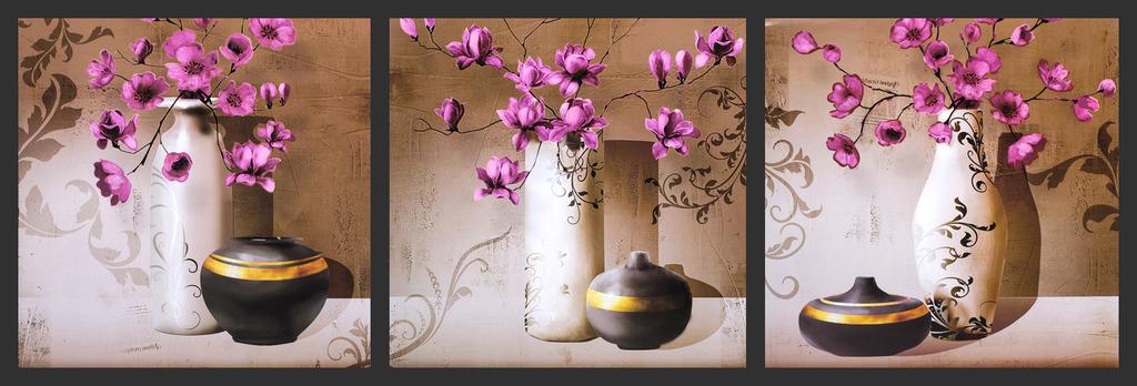 花瓶 无框画 欧式 装饰画图片