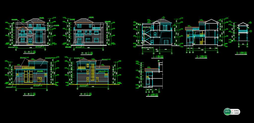 别墅设计图纸模板下载(图片编号:12005843)