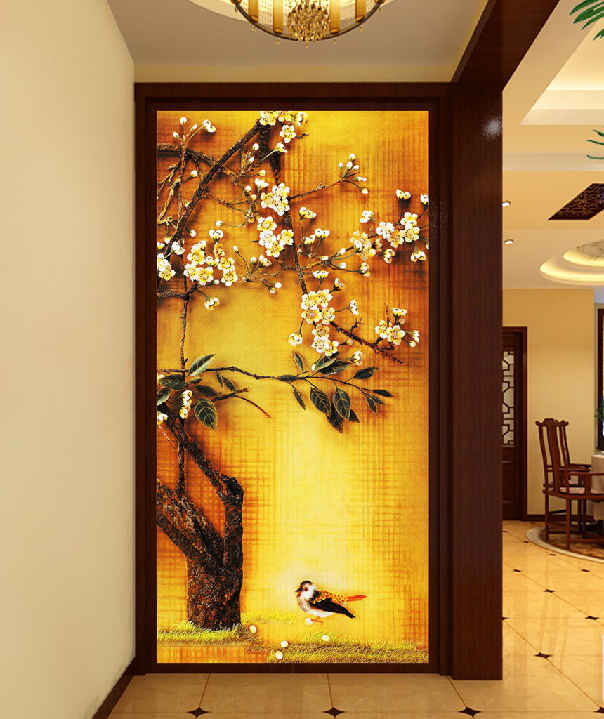 立体浮雕装饰画背景图片下载 玄关背景墙装饰画 背景墙过道背景墙室内