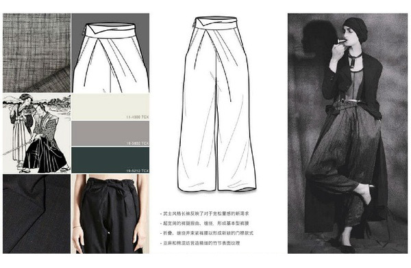 女装裤子手绘设计