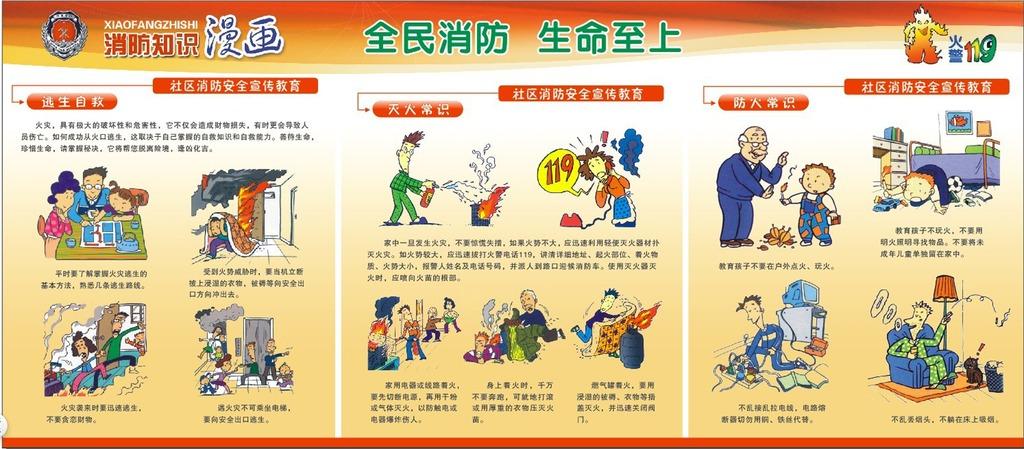消防宣传图片下载 消防宣传画册 消防 宣传 画册 消防宣传 画报 119