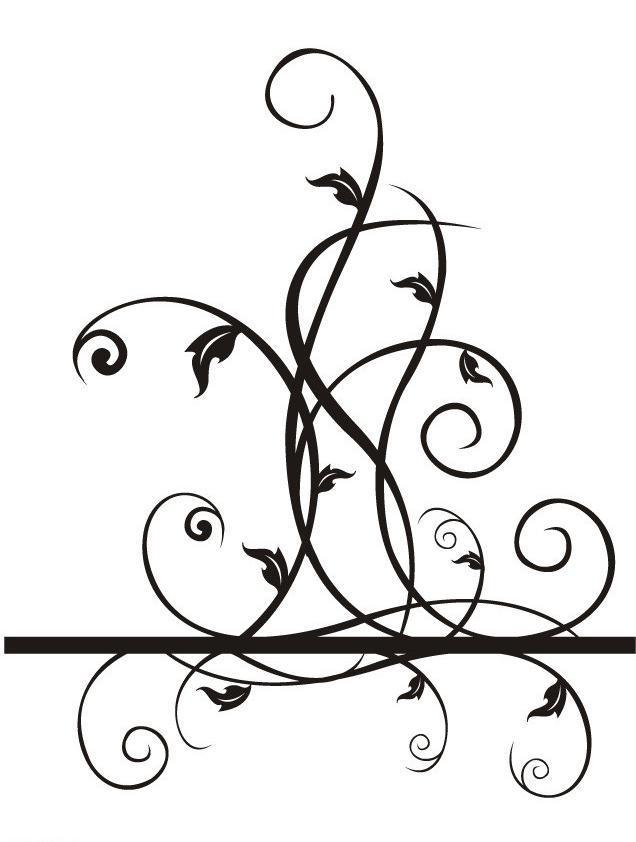 藤蔓花边边框简笔画手绘