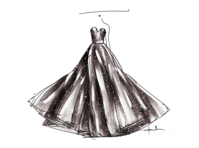 婚纱设计手稿模板下载(图片编号:12011506)_裙子设计