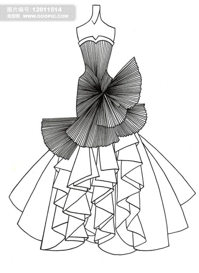 婚纱设计手稿模板下载(图片编号:12011514)_裙子设计图片