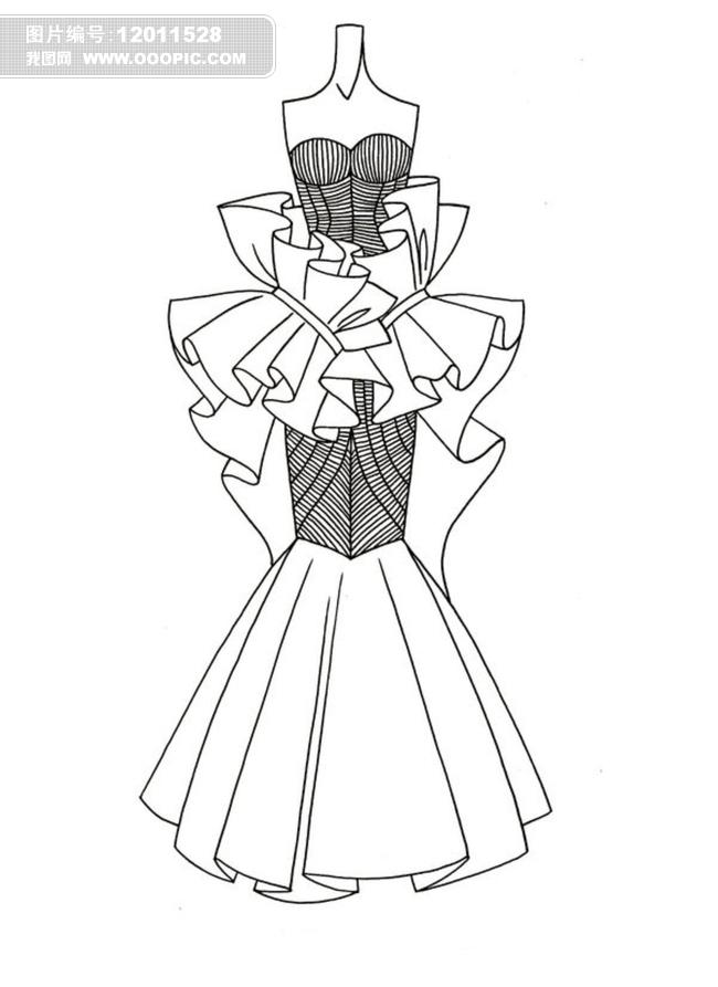 简单式画画裙子图片