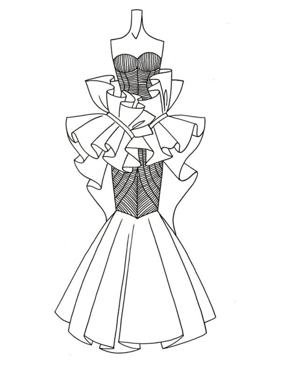 婚纱设计手稿模板下载(图片编号:12011528)_裙子设计图片