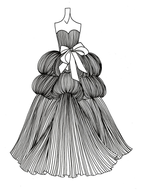 婚纱设计手稿模板下载(图片编号:12011534)_裙子设计图片