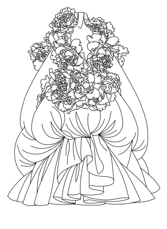 服装设计手稿人体线稿_女士雪纺衫线稿设计模板下载图片编号11989