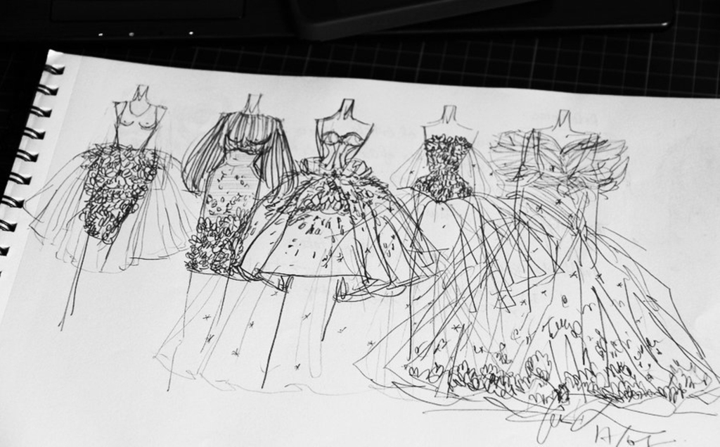 婚纱设计手稿模板下载(图片编号:12011540)