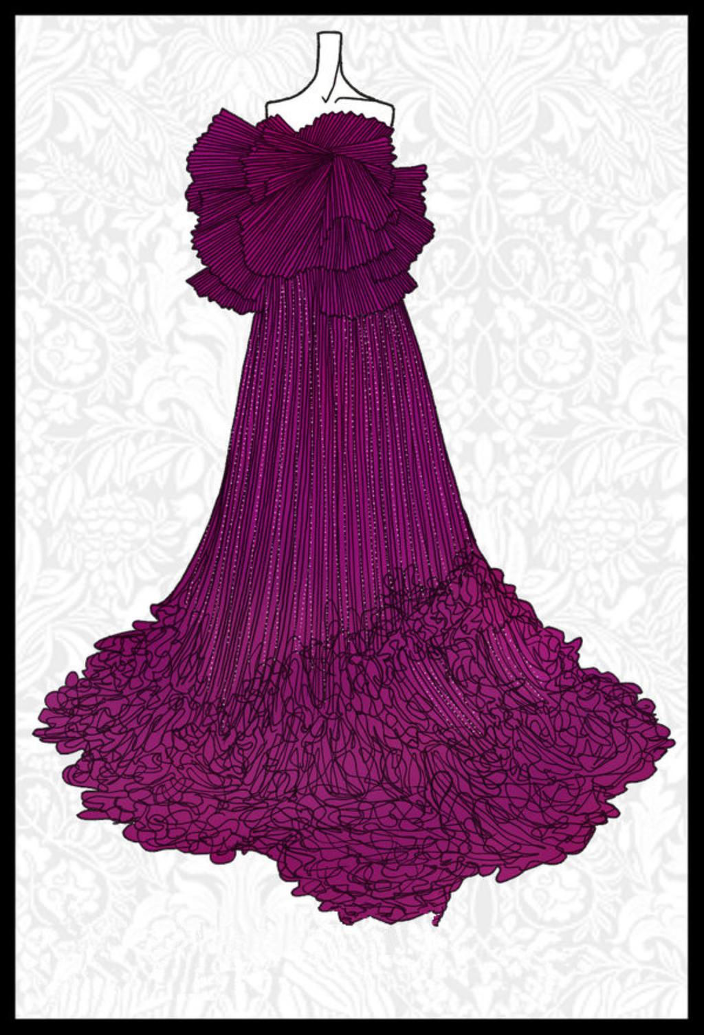 奇迹暖暖古装婚纱设计图手稿素描展示