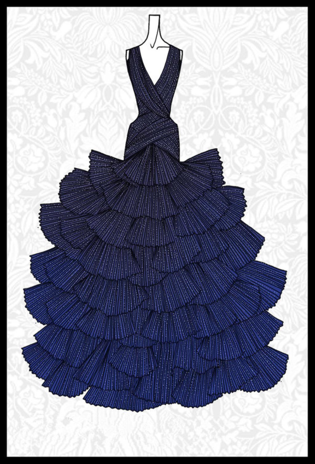 裙子 线条 女装手绘搞