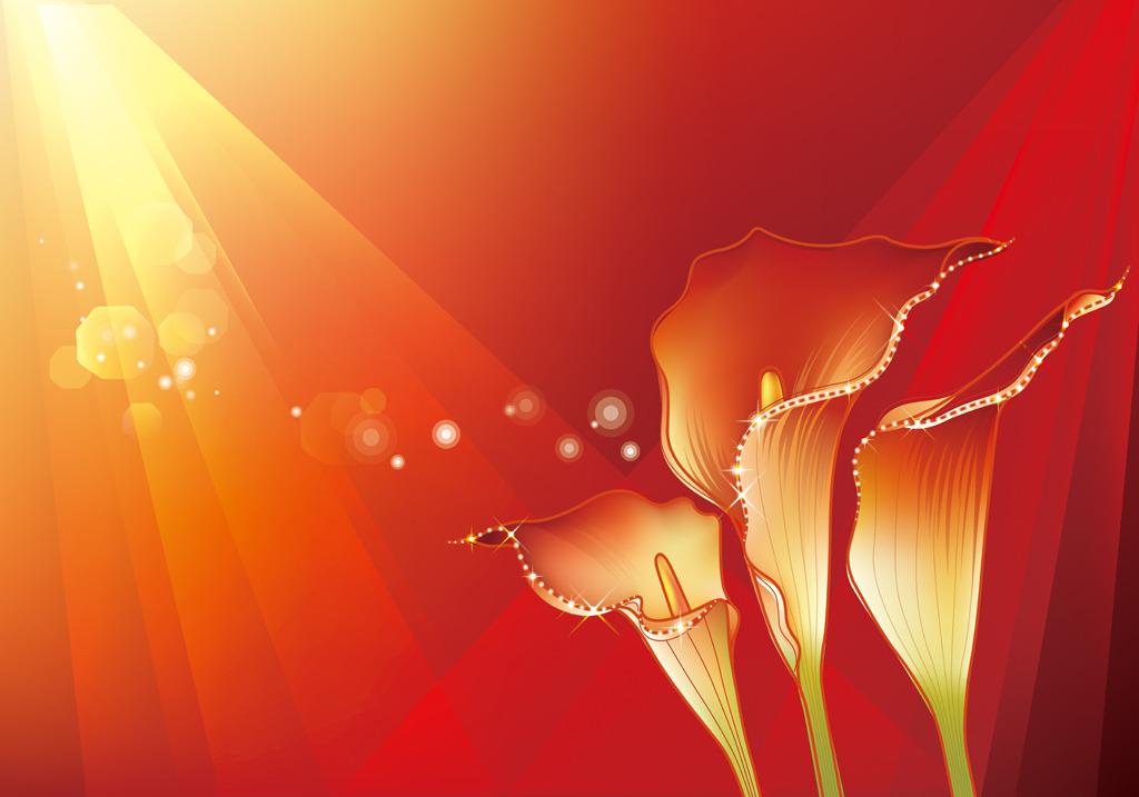 时尚简约背景墙原档模板下载 时尚简约背景墙原档图片下载 花朵