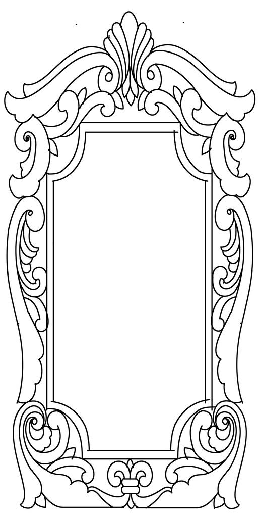 木雕边框手绘图