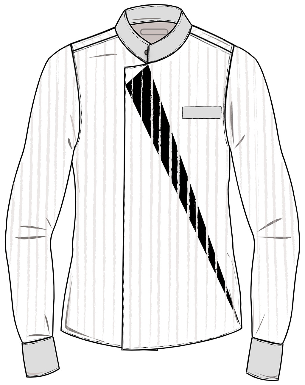 服装设计 服装线稿