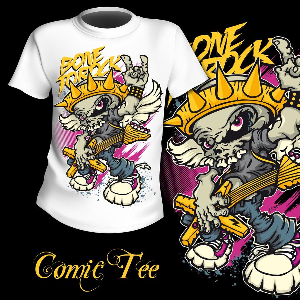 潮流t恤t恤图案设计 手绘t恤图案 t恤图案素材 t恤图案 手绘动物 卡通