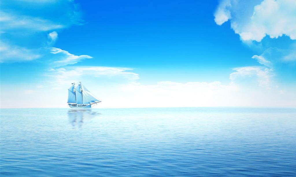 瓷砖背景墙 电视墙 形象墙 时尚 简约 卡通 动漫 可爱 帆船 船 宁静