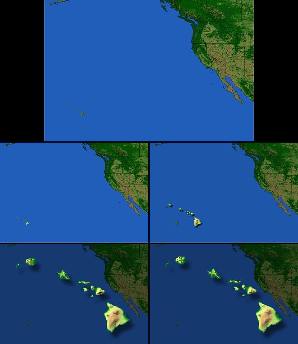 地图动态特效背景素材