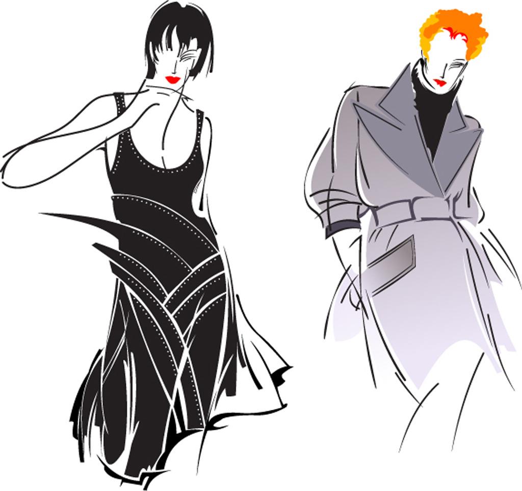 时尚服饰手绘设计