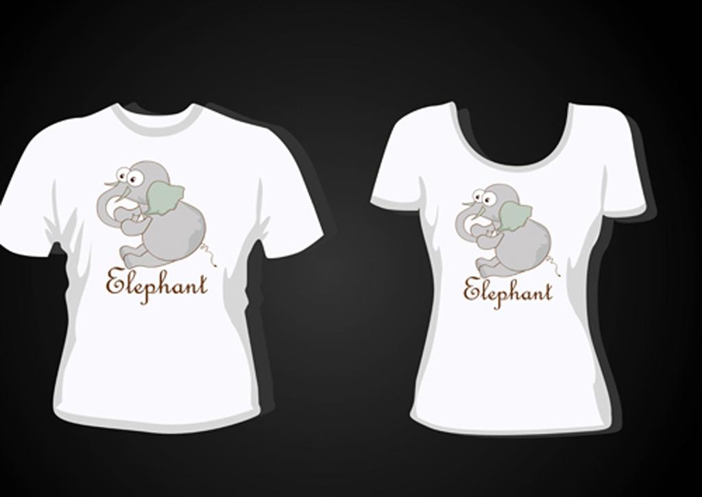 大象手绘t恤