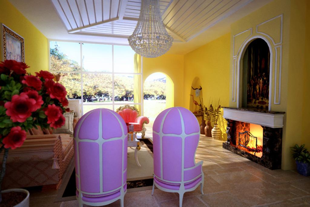 室内设计 整套3d模型 室内3d模型 > 欧式客厅  下一张&gt