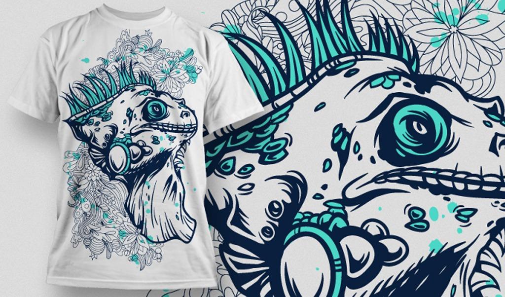 时尚潮流t恤图案创意t恤图案矢量源文件图片下载 手绘t恤图案设计 t恤